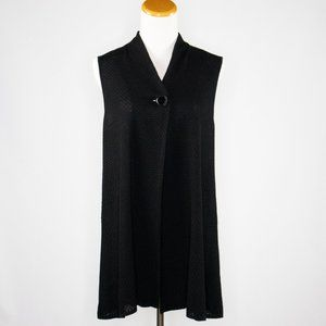 Ming Wang Cardigan Sleeveless Sweater Black